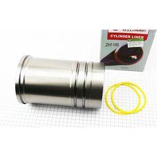 Гильза цилиндра ZH1105 (H=204mm, Øпоршня=105mm, Øвенца=128mm, Øверх.пояс=122mm, Øниж.пояс=120mm)
