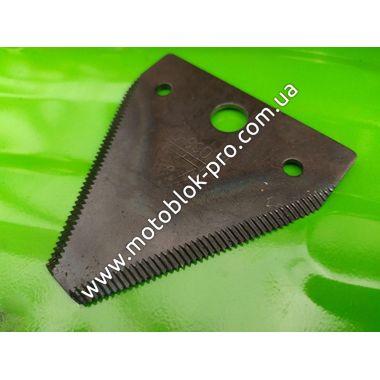 Нож режуший к-т 4 шт(треугольная форма с зубами ) (на роторную косилку)
