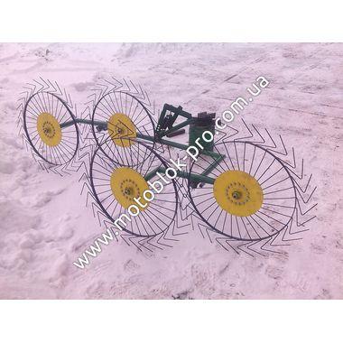Грабли-ворошилки Шепетовка (на 4 солнышка) для мотоблока