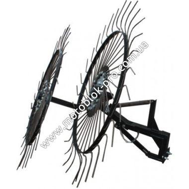 Грабли ворошилки-солнышко большие ТМ Премиум на 2 колеса (1,2м)