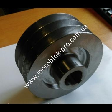 Шкив 3х-ручейковый (Ø25 мм внутренний, Ø76 мм внешний) (177F/178F/186F) профиль Б