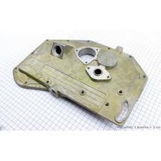 Крышка блока двигателя правая (длинная) алюминиевая 12отв. (R195)