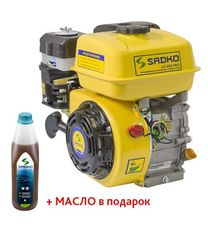 Двигатель Sadko GE-200 PRO (шлицы, масляный фильтр)