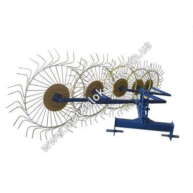 Грабли-ворошилки 5-ти колесные (Солнышко) желто-синие LUXE на мототрактор