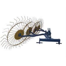 Грабли-ворошилки (Солнышко) 4-х колесные  желто-синие на мототрактор