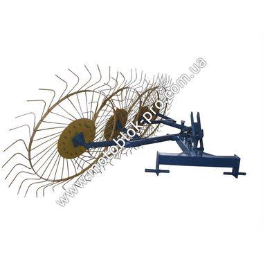 Грабли-ворошилки солнышко 4 колесные Agromarka LUXE для мототрактор