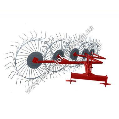 Грабли-ворошилки Agromarka 5-ти колесные (Солнышко) красно-серые на мототрактор