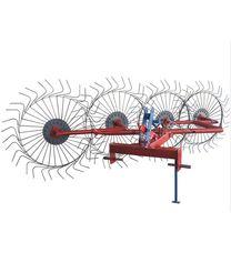 Грабли-ворошилки (Солнышко) 4-х колесные красно-серые на мототрактор