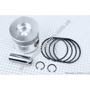 Поршень, кольца, палец к-кт (R195) 95мм +0,75 с выборкой под клапаны