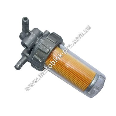 Топливный кран (стакан пластик) (R190)